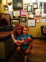 Veronica Ballestrini at Rick's Smokehouse and Grill in Terre Haute, IN with WTHI 99