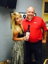 Veronica with Rob West at WJVL in Janesville, WI. Davy Crockett's Tennessee Whiskey.
