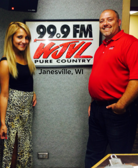 Veronica with Rob West at WJVL in Janesville, WI.
